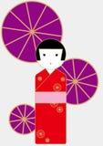 Kokeshi Royalty-vrije Stock Afbeeldingen