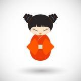 Kokeshi doll  icon Royalty Free Stock Images