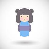 Kokeshi doll  icon Stock Image