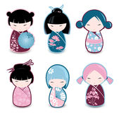 Kokeshi dolls Stock Image