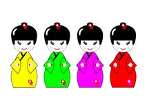Kokeshi Dolls Stock Photography