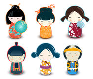 Kokeshi dolls Royalty Free Stock Images