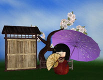Kokeshi Japanese Geisha Royalty Free Stock Photos