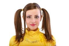 Kokettes Mädchen mit Hecks stockbild