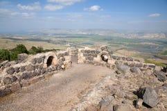 Kokhav haYarden and Jordan Valley. Kokhav haYarden. Belvoir Fortress in the Jordan Valley Royalty Free Stock Images