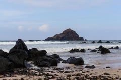 Koki Beach on the Road to Hana in Maui Hawaii Royalty Free Stock Photos