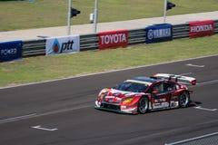 Koki Saga d'avr. dans la catégorie de GT300 Qualiflying à 2015 AUTOBACS Image stock