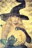 kokietki czarownica Obraz Royalty Free