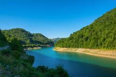 Zlatar Lake in Serbia. Kokin Brod, Serbia August 01, 2017: Zlatar Lake in Serbia royalty free stock images