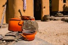 Kokkärl för utomhus- matlagning Royaltyfri Bild