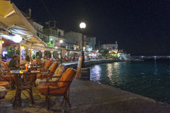 Kokkari by night Royalty Free Stock Image