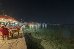 Kokkari by night Stock Image