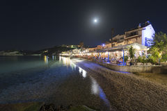 Kokkari resort at night Royalty Free Stock Photos