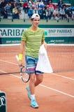 Kokkinakis-Tennisspieler Stockfotos