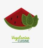 Kokkonst för vegetarian för vattenmelonsidafrukt vektor illustrationer