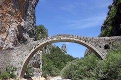 Kokkori arched stone bridge Zagoria. Greece Royalty Free Stock Photos