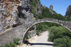 Kokkori stone arched bridge Zagoria. Greece Royalty Free Stock Photo