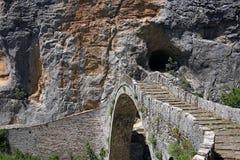 Kokkori stone bridge  Zagoria Epirus. Greece Royalty Free Stock Images