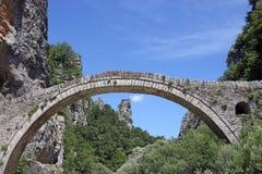 Kokkori stone bridge Zagoria. Greece Stock Photos