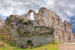Koknese slott i Lettland Royaltyfria Bilder