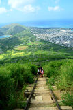Koko头足迹,夏威夷 免版税库存图片