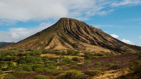 Koko Crater. On the southeastern side of the Island of Oahu in Hawaii Stock Photography