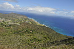 Koko Crater Summit in Hawaii Royalty Free Stock Image