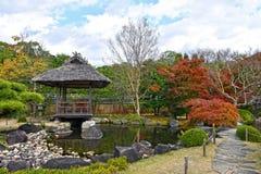 Koko en姬路市庭院在秋天季节期间的 库存照片