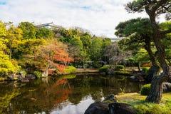 Koko-EN κήπος φθινοπώρου στο Himeji Στοκ Φωτογραφίες