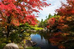 Koko-en autumn garden in Himeji Royalty Free Stock Photos