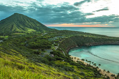 Koko Head Crater and Hanauma Bay Royalty Free Stock Images