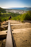 Koko Head Crater and hikers Royalty Free Stock Photography