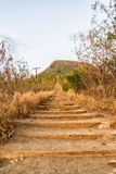 Koko Head Crater stairs, formerly a railway Royalty Free Stock Photo