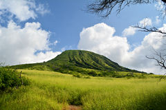 Koko head, Hawaii. One of the famous hiking spot in Oahu, Hawaii Stock Photos
