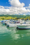 Koko Marina and the Koolau Mountains Stock Photo