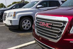 Kokomo - το Σεπτέμβριο του 2017 Circa: Φορτηγό GMC και Buick και αντιπρόσωπος SUV GMC και Buick είναι τμήματα της GM Β Στοκ Εικόνα