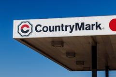 Kokomo -大约2017年12月:CountryMark加油站 CountryMark是国内原油的最大的买家我 免版税库存照片