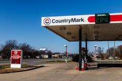 Kokomo -大约2017年12月:CountryMark加油站 CountryMark是国内原油II的最大的买家 免版税库存图片