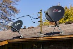 Kokomo -大约2016年11月:对盘网络卫星接收器盘 盘网络提供卫星电视我 库存图片