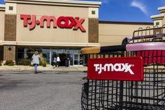 Kokomo -大约2016年10月:T J Maxx零售店地点 T J Maxx是折扣零售联锁店v 免版税库存图片