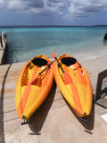 Kokomo Beach Resort kayaks Royalty Free Stock Photos