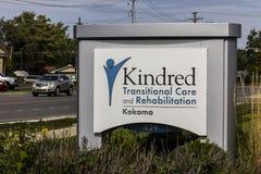 Kokomo - cerca do outubro de 2016: O cuidado e a reabilitação transitórios dos Kindred, uma divisão de cuidados médicos dos Kindr Fotos de Stock