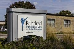 Kokomo - cerca do outubro de 2016: O cuidado e a reabilitação transitórios dos Kindred, uma divisão de cuidados médicos dos Kindr Imagens de Stock Royalty Free