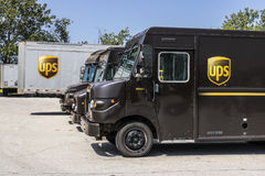 Kokomo - Circa August 2017: United Parcel Service Delivery Truck. UPS is the World`s Largest Package Delivery Company VI stock images