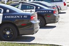 Kokomo - circa im Juli 2016: Polizeiwagen mit Notfall 911 I Lizenzfreies Stockfoto