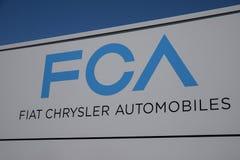 Fiat Chrysler Automobiles Transmission Plant. FCA sells vehicles under the Chrysler, Dodge, and Jeep brands II. Kokomo - Circa July 2019: Fiat Chrysler royalty free stock photos