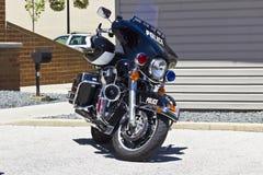 Kokomo - Circa June 2016: Police Motorcycle: Harley-Davidson USA I Royalty Free Stock Image