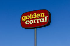Kokomo - Circa November 2016: Golden Corral Buffet and Grill. Golden Corral serves many free meals to military veterans I Royalty Free Stock Image
