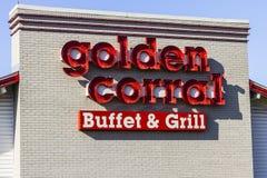 Kokomo - Circa November 2016: Golden Corral Buffet and Grill. Golden Corral serves many free meals to military veterans III Royalty Free Stock Photos
