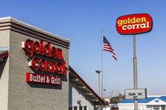 Kokomo - Circa November 2016: Golden Corral Buffet and Grill. Golden Corral serves many free meals to military veterans IV Stock Photos